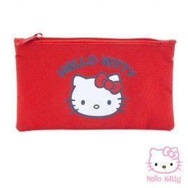 ESTUCHE ROJO HELLO KITTY